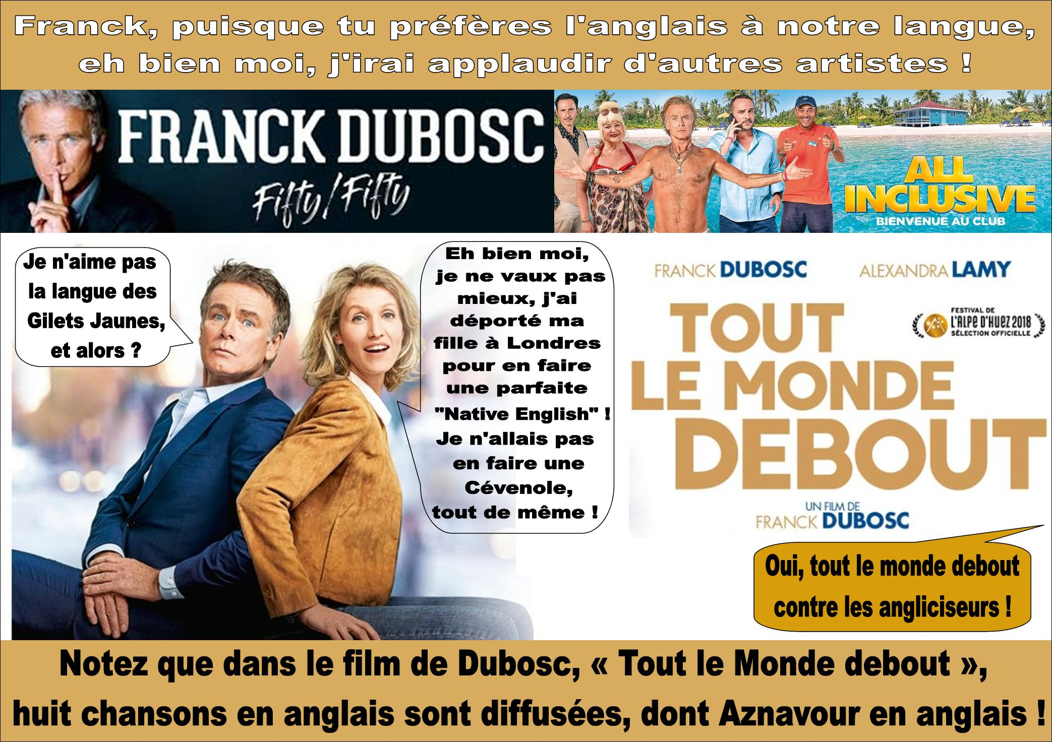 Franck Dubosc, Alexandra Lamy et la langue française