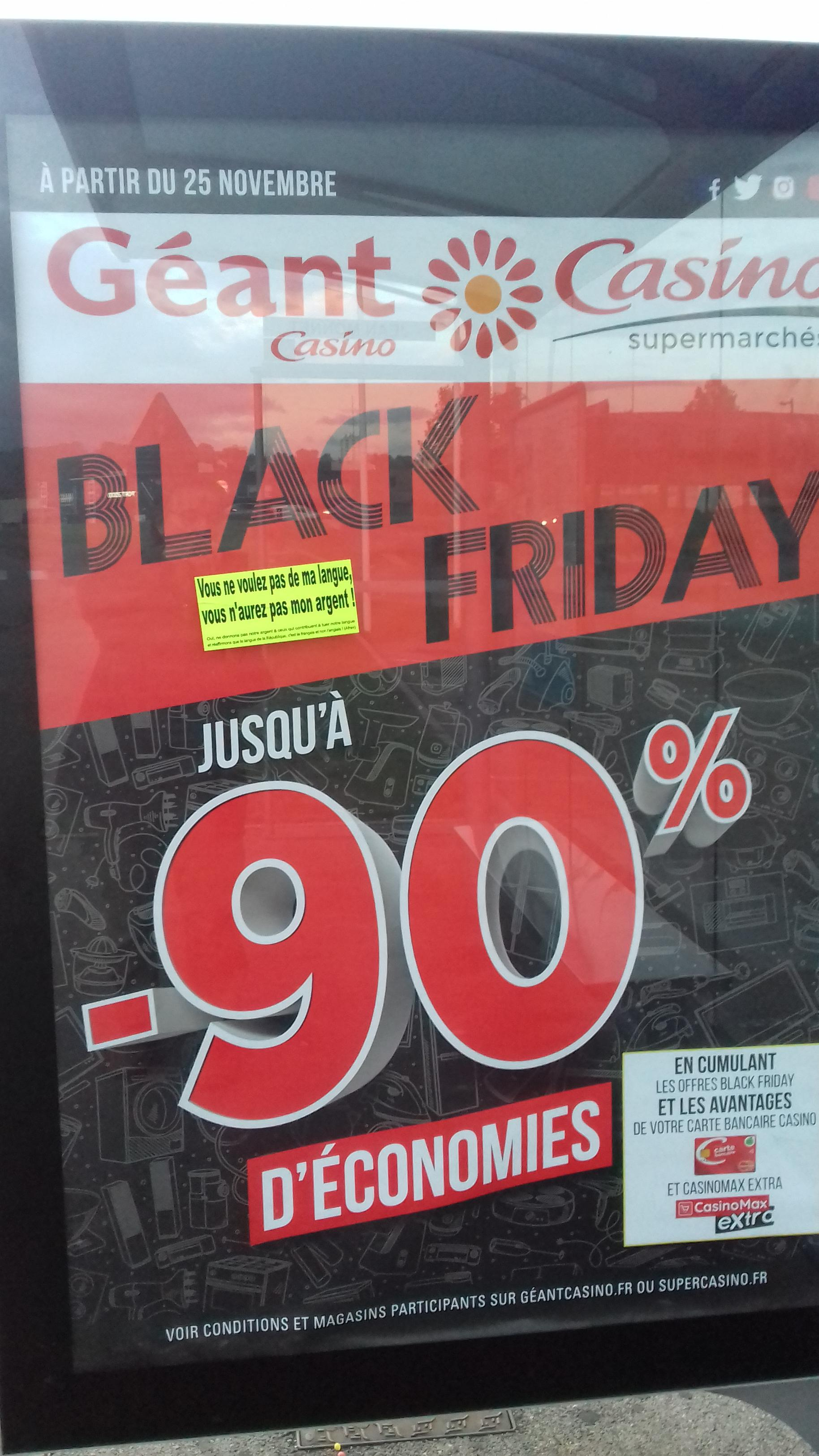 Géant Casino et le Black Friday