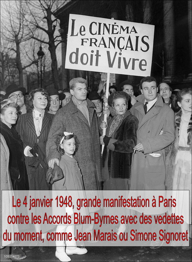 Contre l'invasion du cinéma américain, contre Blum-Byrnes-Bis