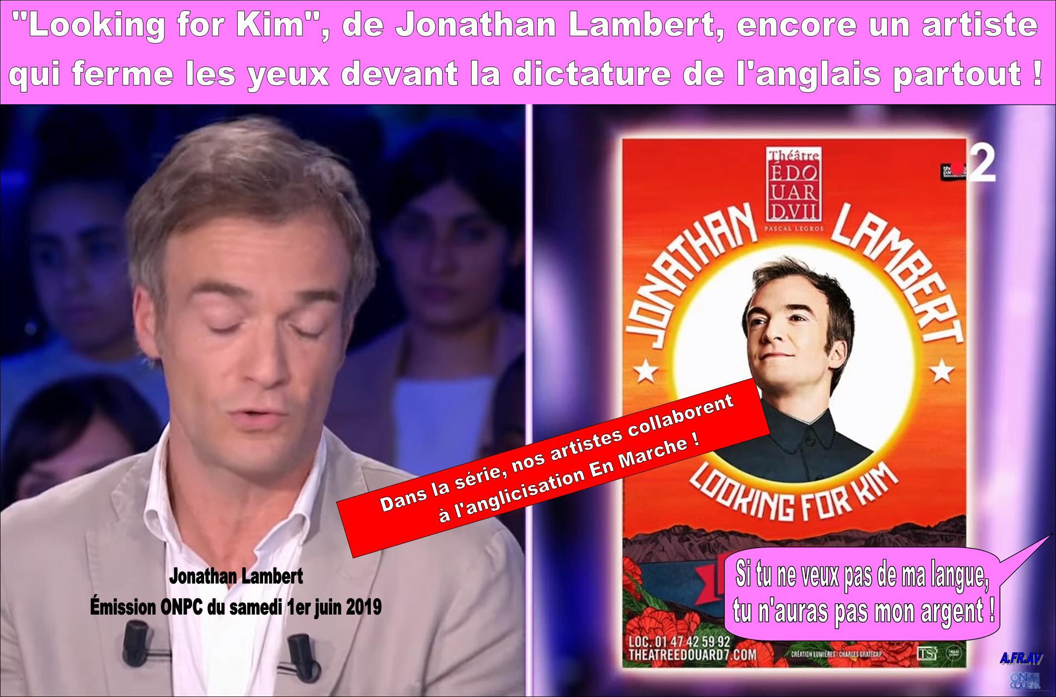Jonathan Lambert et la langue française