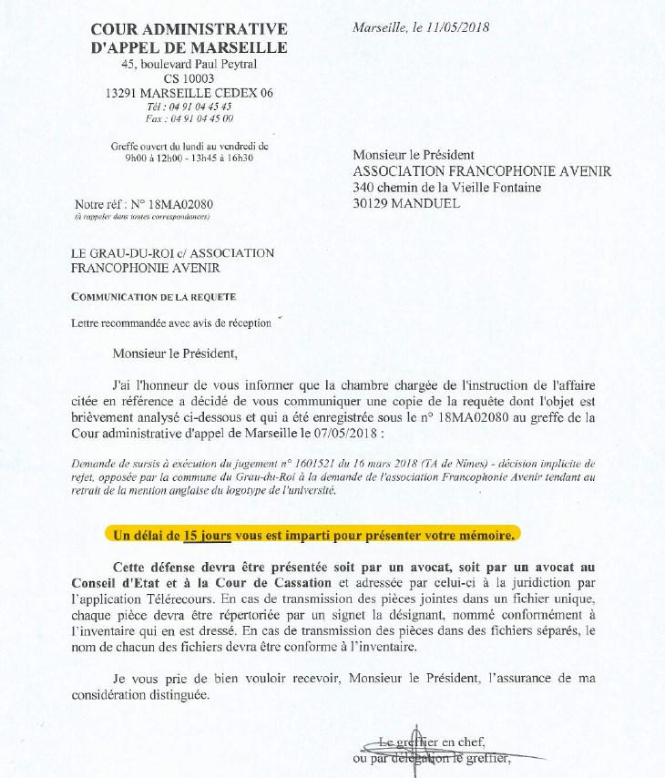 Le procès  Let's Grau, du Grau-du-Roi, en appel à la cour administrative d'appel de Marseille