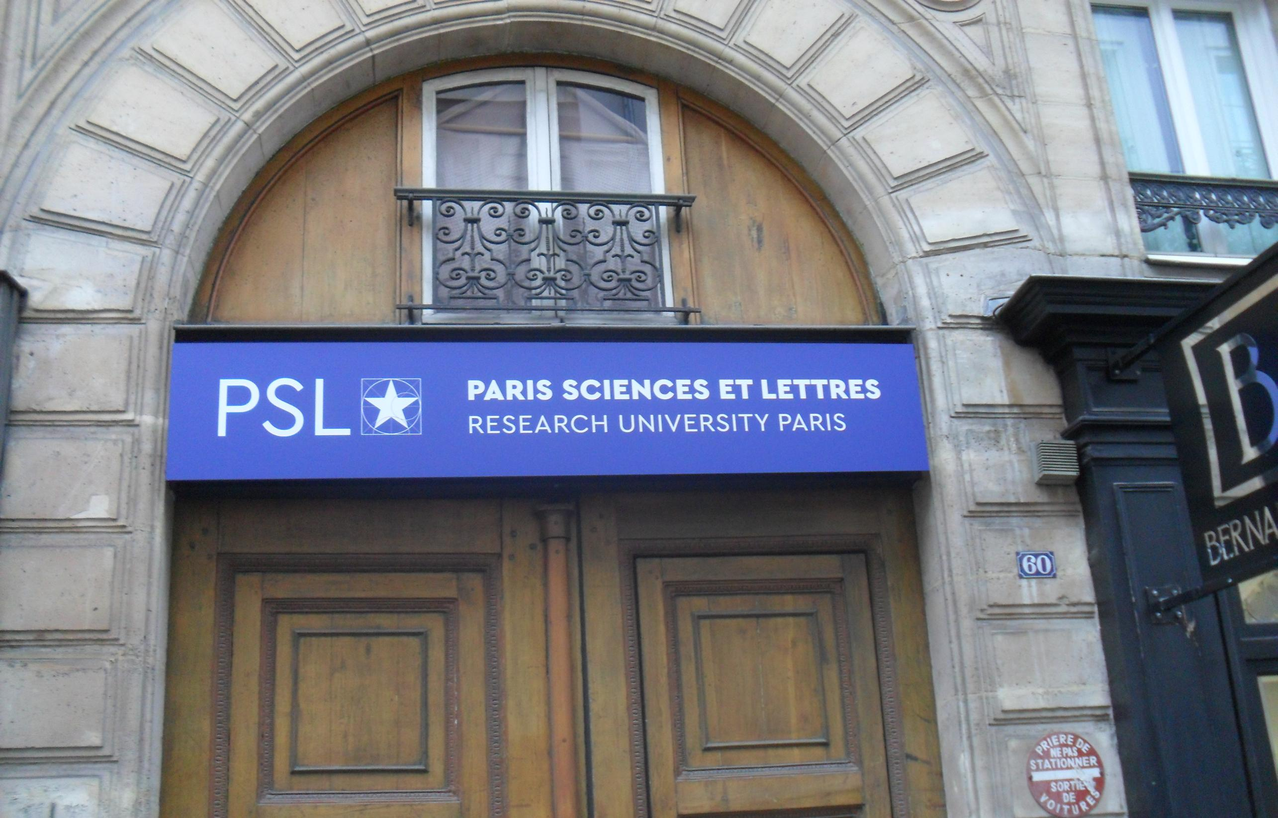 PSL Paris Sciences et Lettres et son logotype