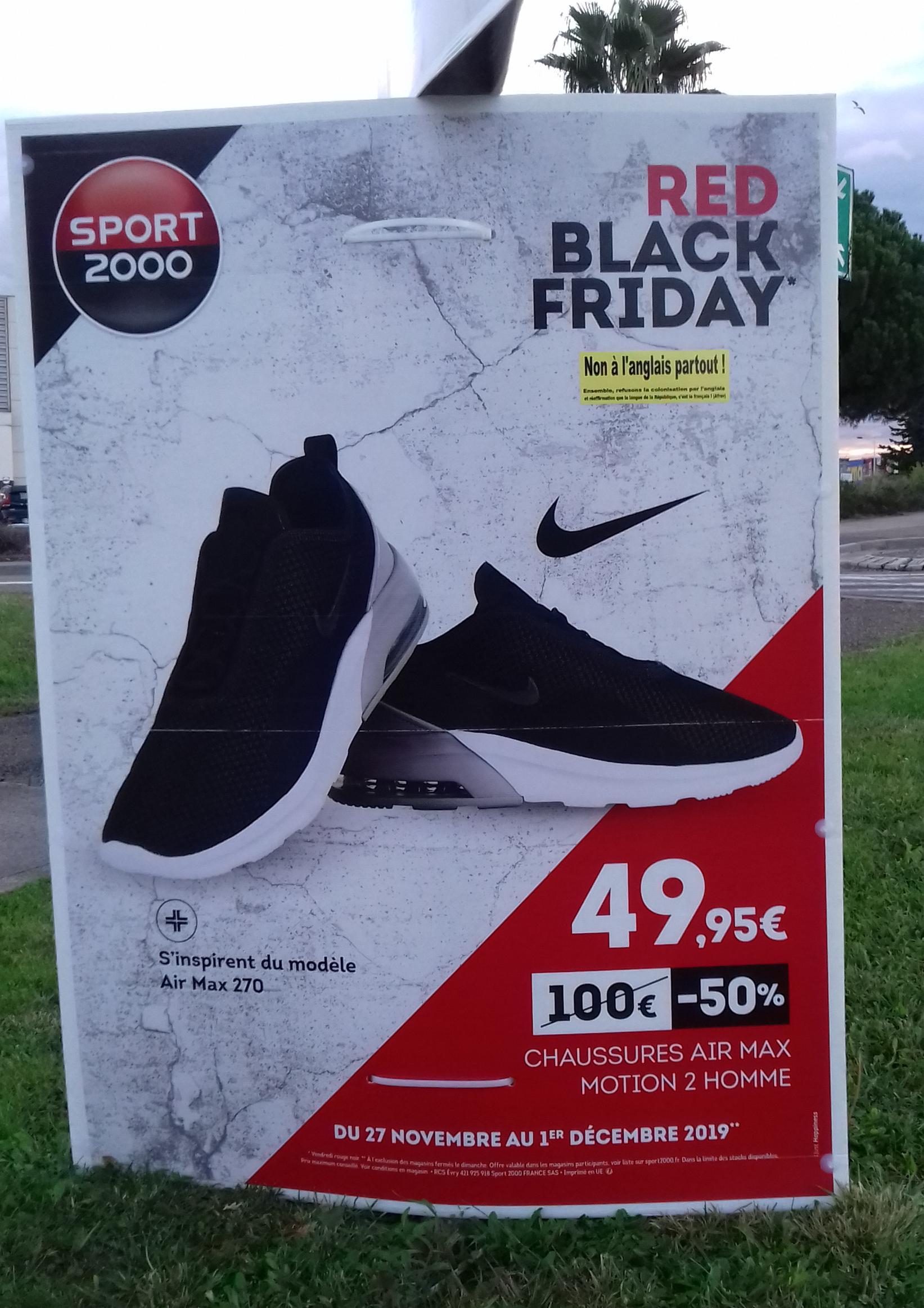 Sport 2000, chaussures air max