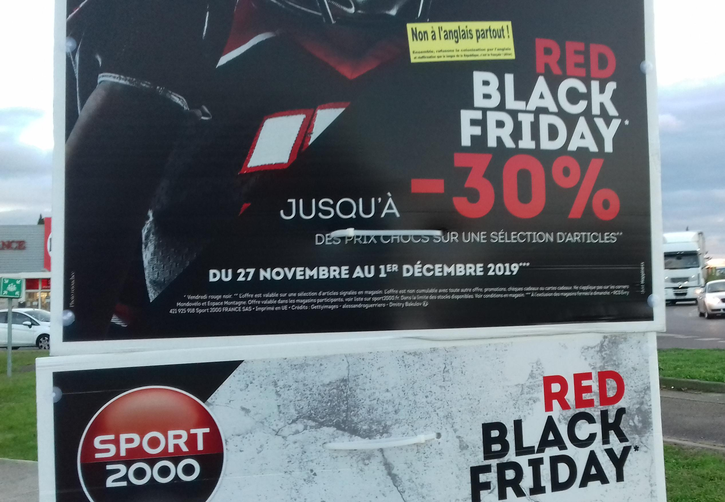 Sport 2000 et le Red Black Friday