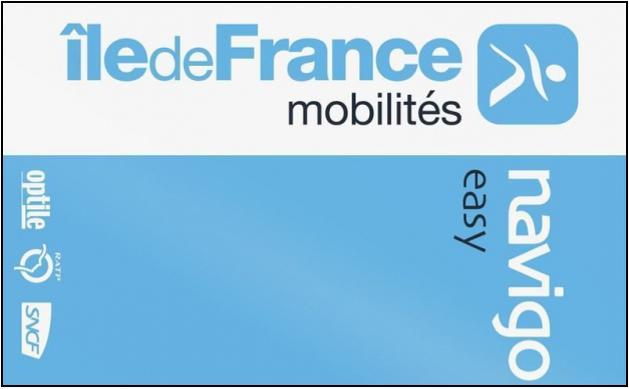 Titre de transport Navigo-Easy Île-de-France-mobilités