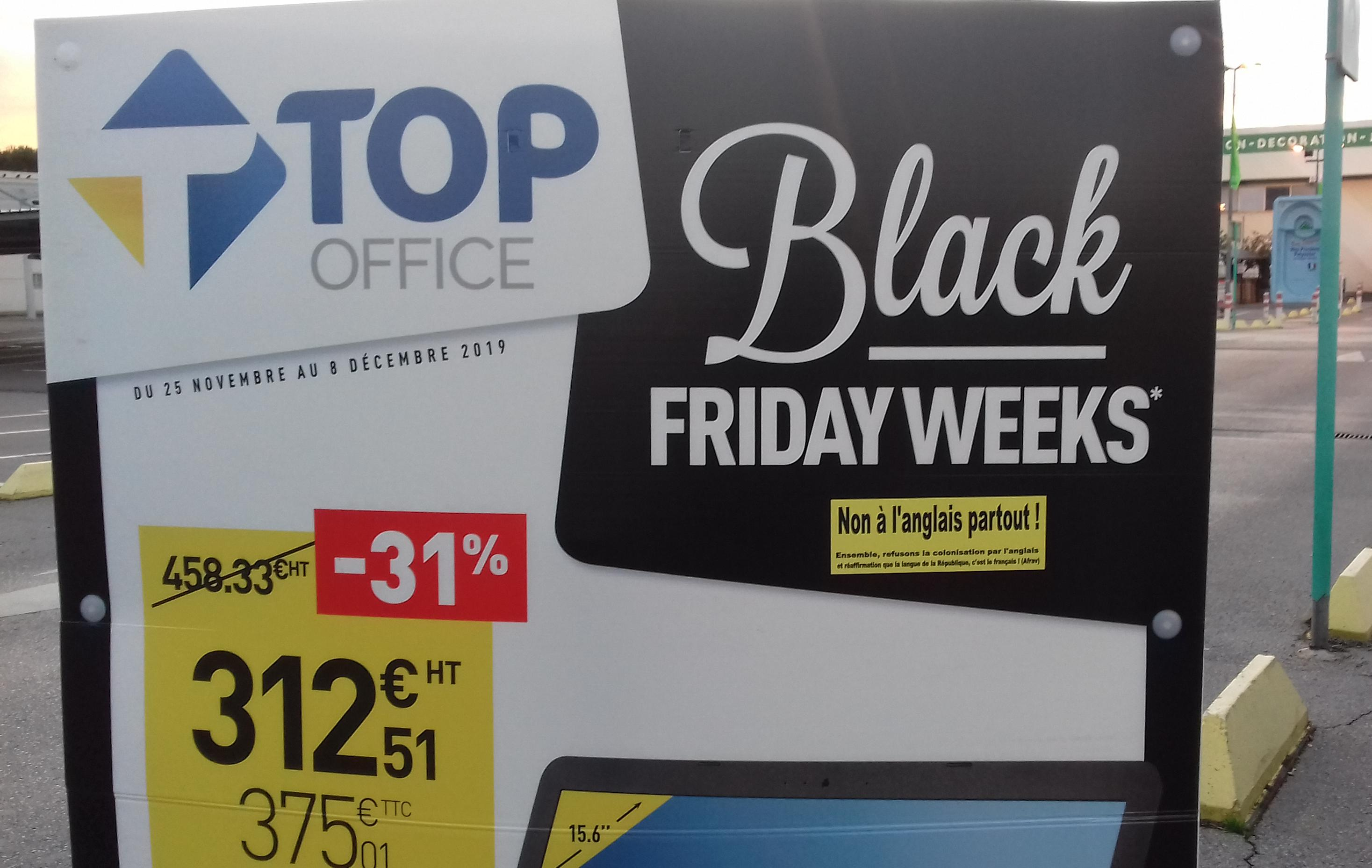 Top Office et le Black Friday Weeks