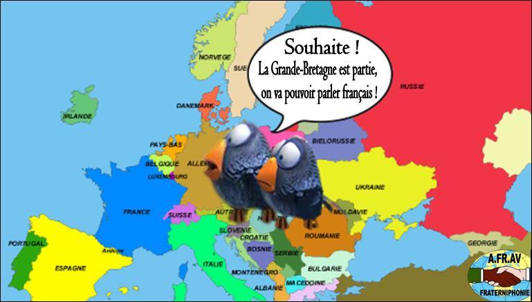 Vive le Brexit, on va pouvoir parler français !